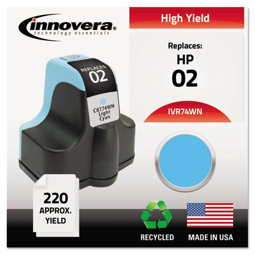 (Remanufactured C8774WN (02) Ink, 240 Page-Yield, Light Cyan, Sold as 1 Each)