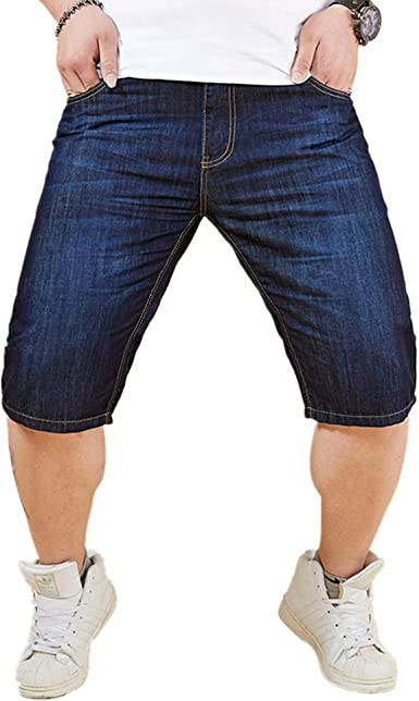 Herren Jeans Shorts Denim Stretch Material Slim Fit Sommer Kurze Hose W28-48