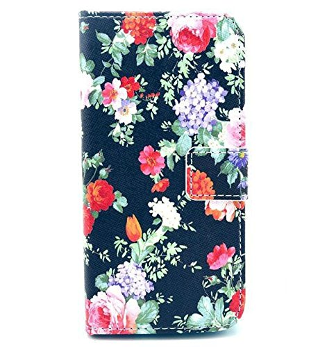 Monkey Cases® iPhone 6 Plus 5,5 Zoll - Flip Case - BLUMEN - Matt - Premium - original - neu - Tasche - flowers #3