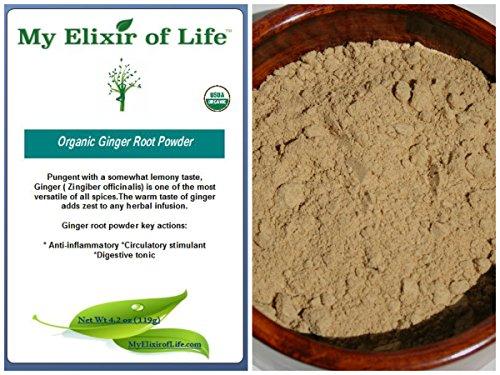 Raw Organic Ginger root powder 4.2 oz