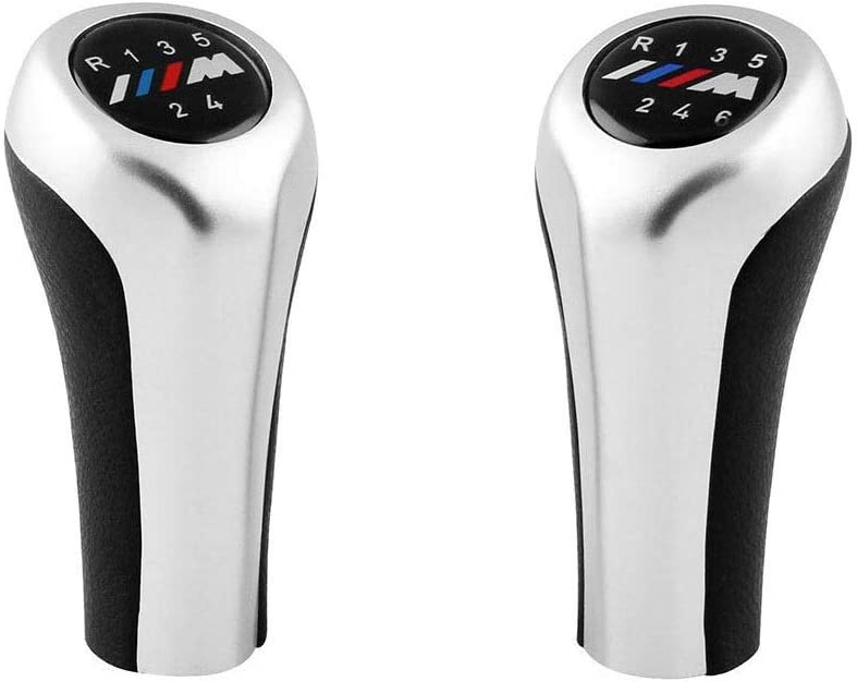 Republe di Ricambio per Cuoio BMW Gear Shift knob,Gear Shift E63 E90 E91 E92 X1 X3 Chrome Manual Gear pomello del Cambio 5 Speed One