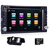 Double Din In Dash Car Autoradio Stereo Headunt CD DVD Player Touch screen MP3 MP4 USB SD AM FM RDS Radio GPS Navigation Steering Wheel Control Bluetooth iPod Backup Camera