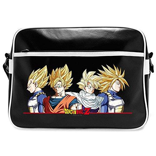 Dragon Ball Tasche Super Saiyajins Sayains Umhängetasche 37x27,5x12,5cm schwarz