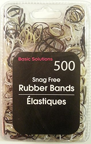 500 Snag Free Rubber Bands - Brown/Tan