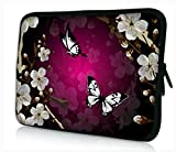ProfessionalBags Universal 17 inches Laptop Netbook Bag Sleeve Case Cover for 17.1 17.3 17.4 inch Apple Macbook Pro IBM Acer Sony Lenovo Toshiba Satellite Alienware m17x HP Pavilion DV7 Dell Inspiron 17R XPS Gateway Notebook,Purple Flower Design