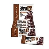 Pegan Thin® Protein Bar (Chocolate Lava) 12 Bars (20g Organic Plant Protein) (1 Net Carb 1g Sugar)