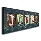 Personalized Vintage, Neon, Urban, Architecture Signs Name Alphabet Art. (Block Mount - 9.5 x 26)