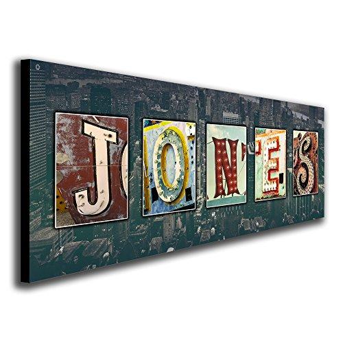 Personalized Vintage, Neon, Urban, Architecture Signs Name Alphabet Art. (Block Mount - 9.5 x - Art Customized Name