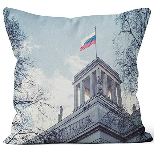 Nine City Russian Embassy Home Decor Throw Pillow Cover Cotton Linen Cushion,HD Printing for Couch Sofa Bedroom Livingroom Kitchen Car,16