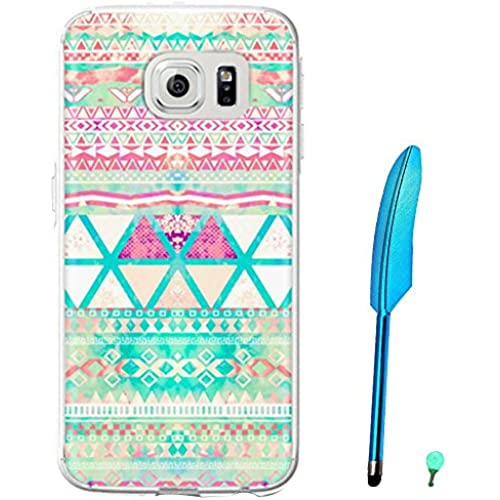 Happy Hours - Fashion Style Colorful Painted Hard PC Protective Case Cover for Samsung Galaxy S7 with Feather Stylus and Luminous Dust Plug(Multicolor C) Sales