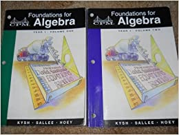 Book Foundations for Algebra: Year 1 by Judith Kysh (2002-06-02)