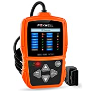 #LightningDeal 80% claimed: OBD II/OBD2 Scan Tool Auto Diagnostics Code Readers Check Car Engine Light Error Codes Scanner for Passing Emission Test Foxwell NT201 Orange