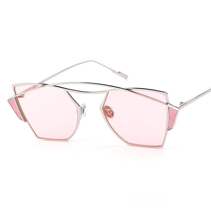 WKAIJC Dual-Strahlen Mode Persönlichkeit Bequem Anspruchsvoll Kreativ Retro Männer Und Frauen Sonnenbrillen,D