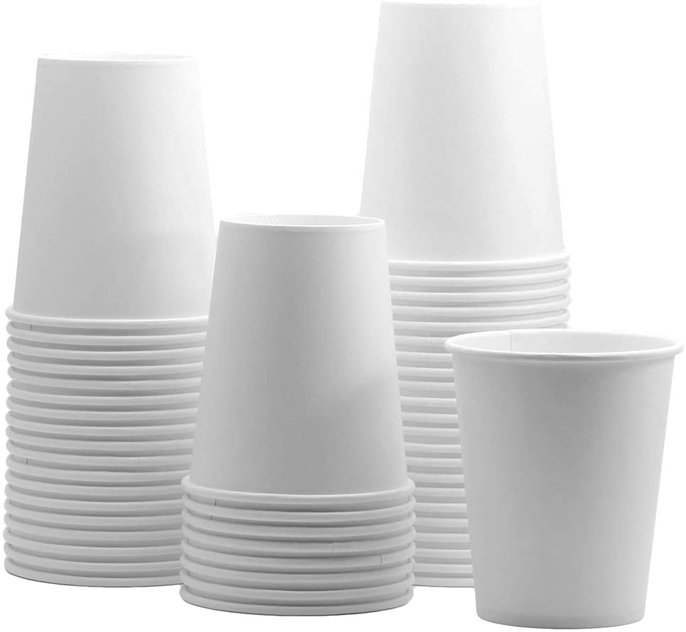 12 oz. White Paper Hot Cups – Coffee Cups
