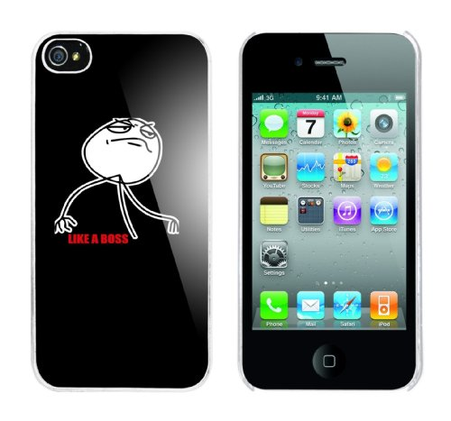 Iphone 4 Case Like a Boss Rahmen weiss