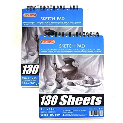 Shuttle Art 260 Sheets Sketch Book, 9