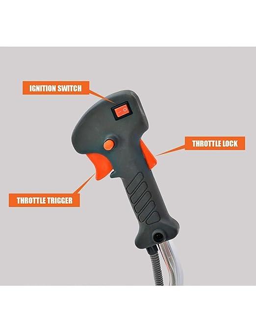 Spark - Desbrozadora Gasolina 52cc 3 en 1 con Arnes y Casco de Seguridad, Barra divisible con discos de 3 y 40 puntas, cabezal de hilo - AG/BC-5200ASP