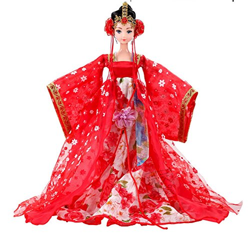 Doll Bride Costume (Chinese Bride Costume Doll As Gift For Girl, Random Style)