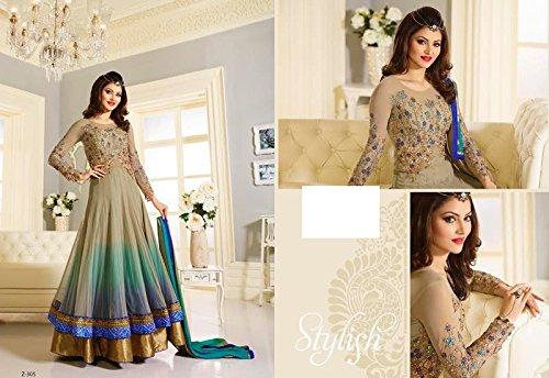 New EthnicDesigner Women Hijab Indian Anarkali Salwar Kameez suit 8750