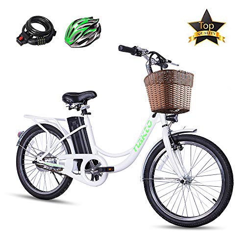 BRIGHT GG NAKTO City Electric Bike for Adults Women Ebike with 36V10A Lithium Battery