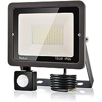 100W Foco LED Exterior con Sensor Movimiento, bapro Proyector LED Exterior 10000LM Floodlight Impermeable IP65 Blanco Cálido 3000K, Alto Brillo Iluminacion Exterior para Jardín, Garaje, Fábrica
