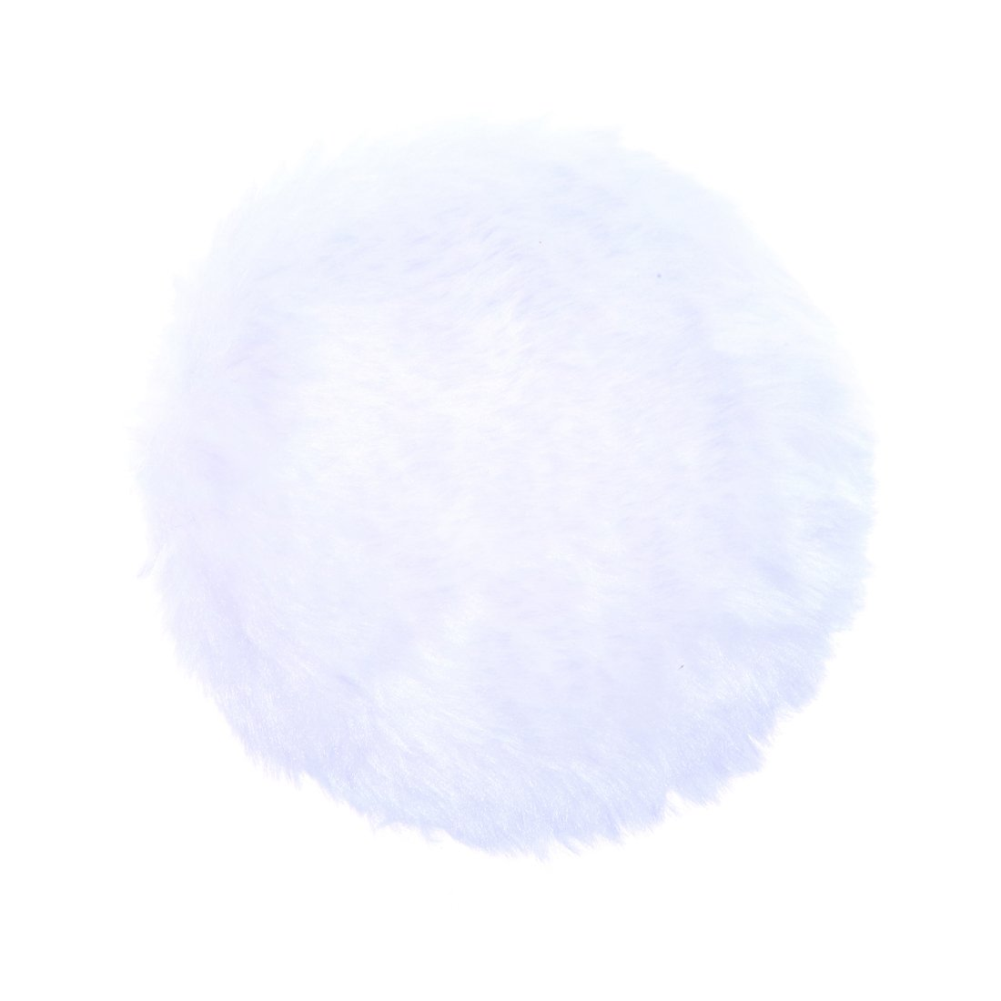 Anleolife 5Pcs White Large Fluffy Puffs For Body Powder Washable Face Powder 3 inch Blending Sponge Puff Round For Foundation Makeup Velour Puffs 5pcs/package