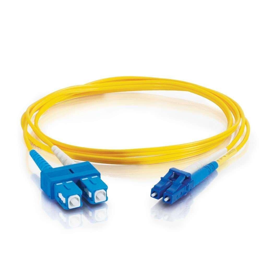 C2G 5m Fibre//Fiber Optic Cable for Gigabit Ethernet Applications LC//SC LSZH Duplex Multimode 9//125 SM Fibre