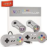 iNNEXT SNES Retro USB Super Nintendo Controller Gamepad Joystick, USB PC Controller, Raspberry Pi Controller for Windows PC / MAC / Raspberry Pi (2 Pack)