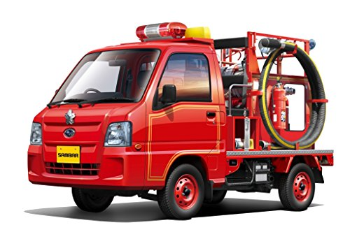 Download Super Car 1/24 The Best Car GT No 50 Sambar Fire Engine Truck 4WD Track type Fighter Plastic Model Race Aoshima