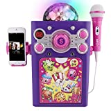 Shopkins Disco Ball Karaoke Machine Features a Lightweight Microphone and Vibrant Disco Ball
