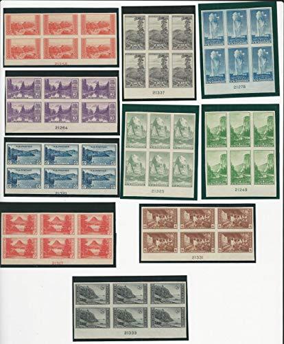 United States, Postage Stamp, 756-765 Mint Plate Blocks Imperf, 1935, JFZ ()