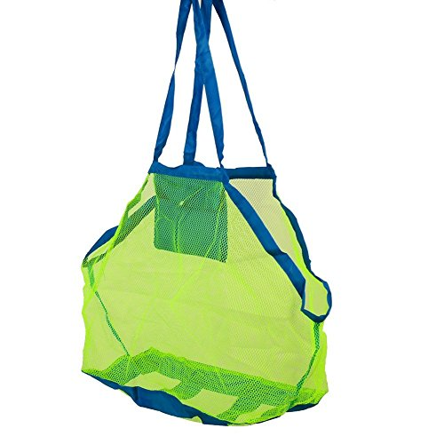Yingli Beach Mesh Tote Bag  Portable Sand Away Mesh Beach Bag Pack Pouch Toys Carrying  Swim  Toys  Boating  Etc