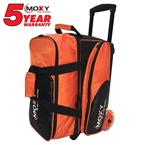 - Moxy Bowling Products Blade Premium Double Roller Bowling Bag- Orange/Black