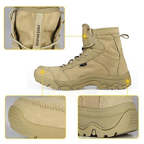 Libre Soldado hombre ligero transpirable cordones zapatos botas de senderismo deporte Entrenadores táctica arena