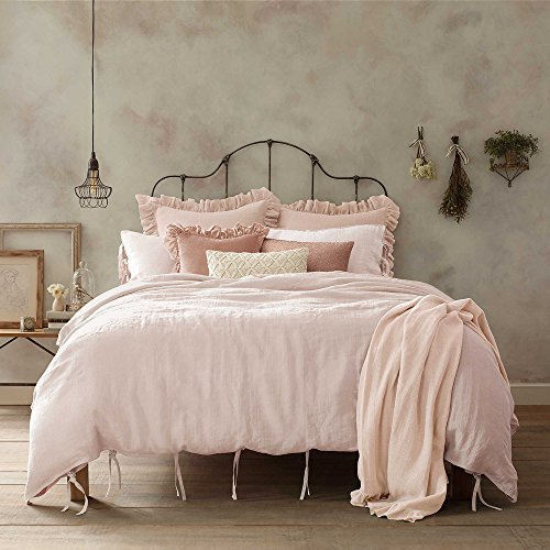 Wamsutta Vintage Washed Linen King Size Duvet Cover Light Bl