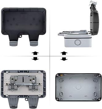 A prueba de polvo Caja eléctrica segura Enchufe externo de montaje ...