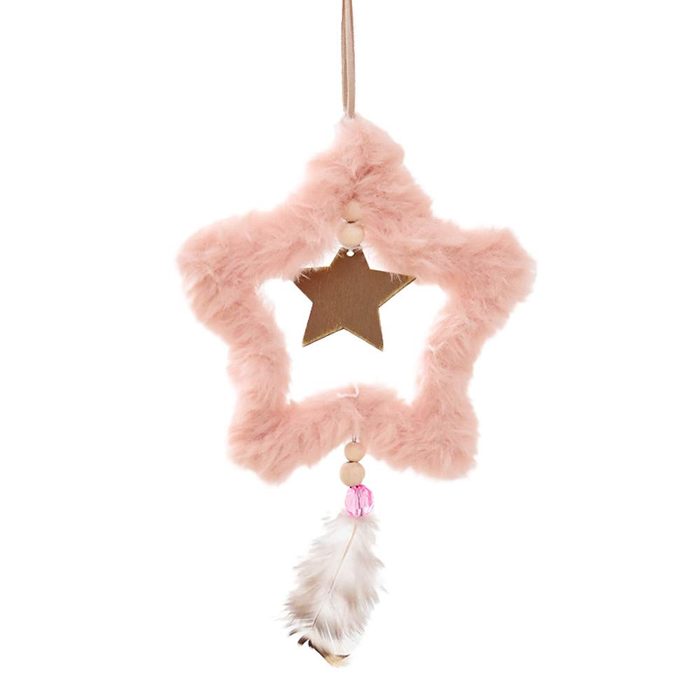 Lovewe Christmas Cute Plush Ornaments Festival Party Xmas Tree Hanging Decoration (B)