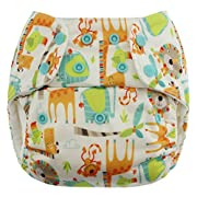 Blueberry One Size Simplex All In One Cloth Diapers, Made in USA (Safari)