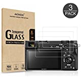 AKWOX (3-Pack) Screen Protector for Sony DSLR Alpha Nex-7 NEX-6 NEX-5 A6000 A6300 A5000 Camera, Anti-scrach Tempered…