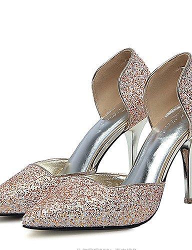 GGX  Damen-High Heels-Hochzeit   Kleid     Party & Festivität-Kunstleder-Stöckelabsatz-Absätze-Rot   Silber   Gold B01KL7I030 Sport- & Outdoorschuhe Billig 4a79c9