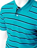 Men's 180-200 TC Silket Striped Polo Dri Fit Collar