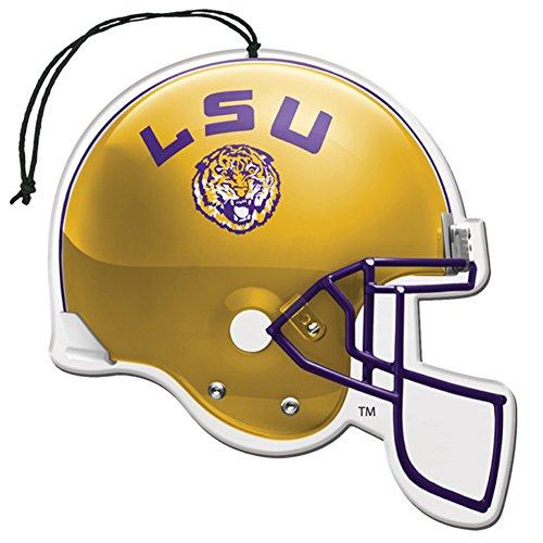[해외]인가 된 NCAA (LSU) 루이지애나 주립 대학 호랑이 뉴카 향기 헬멧 모양 공기 청정제 3 팩 세트 (선물 상자 포함)/Licensed NCAA (LSU) Louisiana State University Tiger