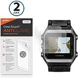 Garmin Epix Screen Protector, BoxWave [ClearTouch Anti-Glare (2-Pack)] Anti-Fingerprint Matte Film Skin for Garmin Epix