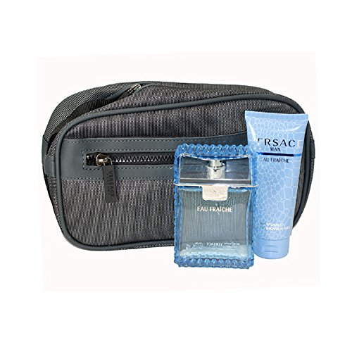 Versace Eau Fraiche Men Gift Set (Eau De Toilette Spray, Perfumed Bath and Shower Gel)