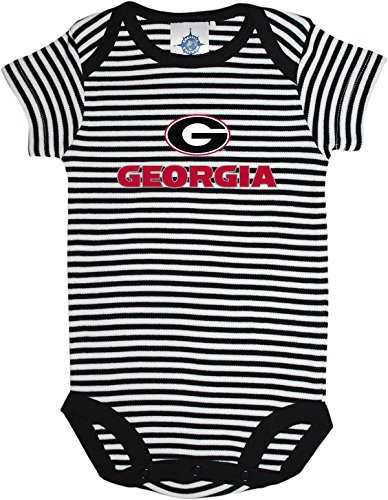 University of Georgia Bulldogs Circle G Baby Striped Bodysuit Black/White
