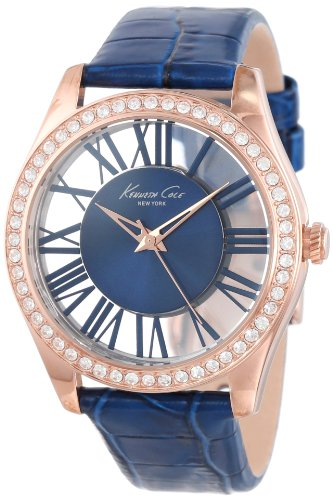 Gold Transparent Watch (Kenneth Cole New York Women's KC2757 Transparency Gold Case Transparent Blue Dial Watch)