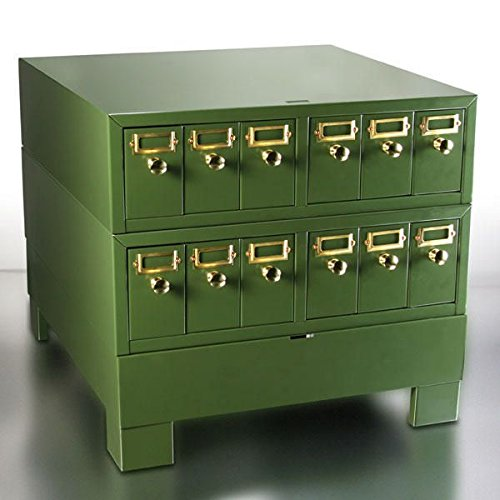 Globe Scientific 513500G Green Borosilicate Glass 513500G Borosilicate Glass Slide Storage Cabinet