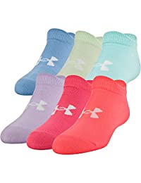 Under Armour Women's Essential Charged Cotton No Show Liner Socks (6 Pack)
