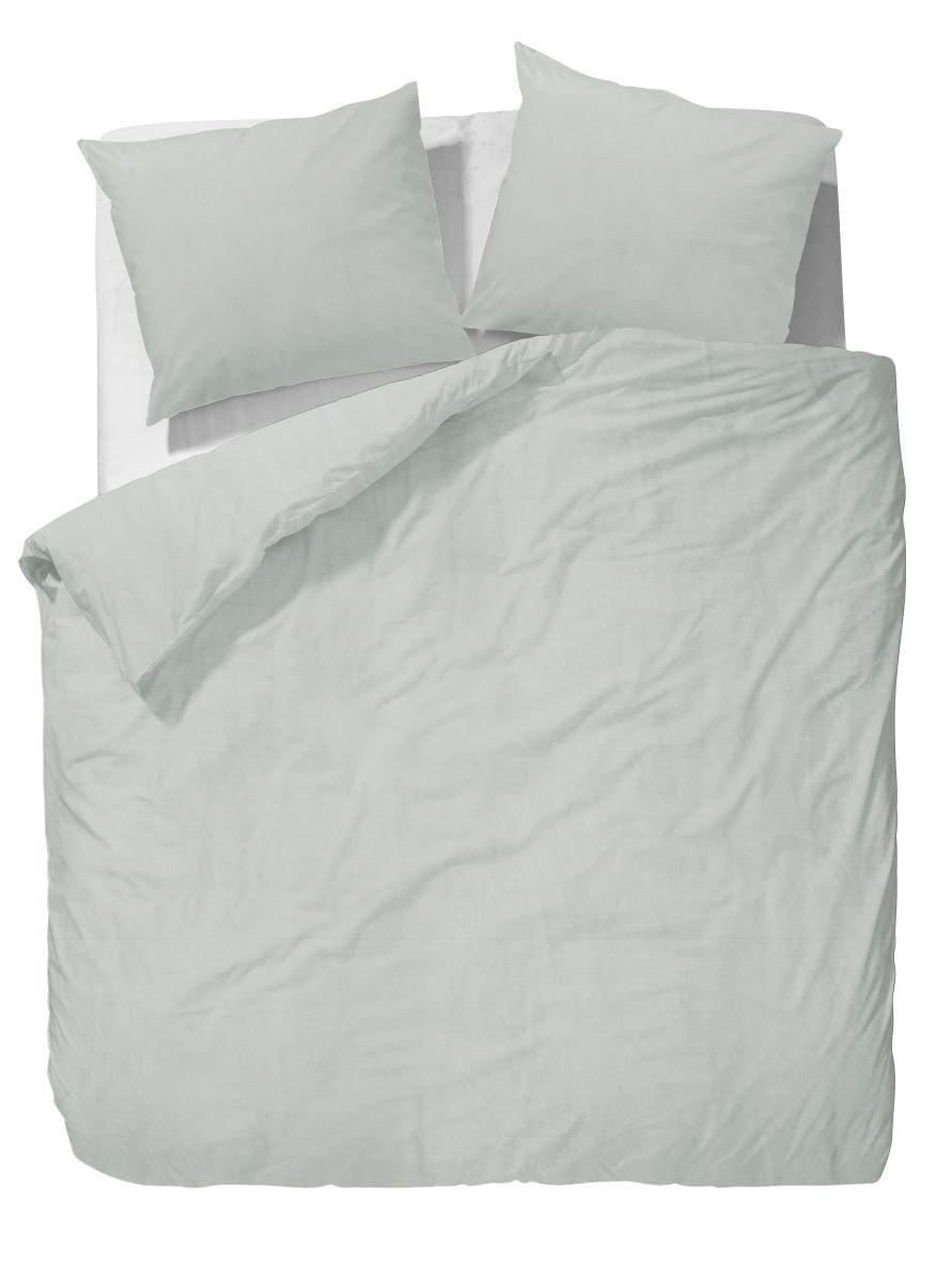 Marc O'Polo Bettwäsche 730088-100DE-002 Washed Linen, 1 Person-Set 155 x 220 und 80 x 80 cm, 60% Baumwolle, 40% Leinen, grün