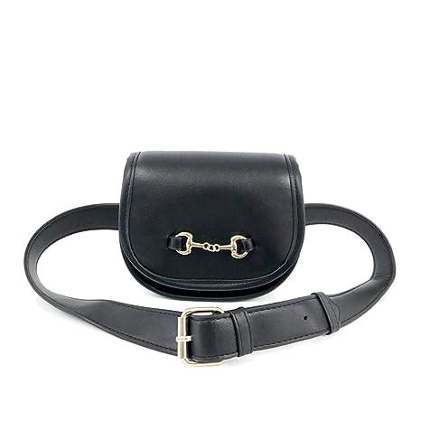 e178ac330d45 Amazon.com  Luxury Handbags Women Bags Waist Bag Black 15cm7cm16cm ...